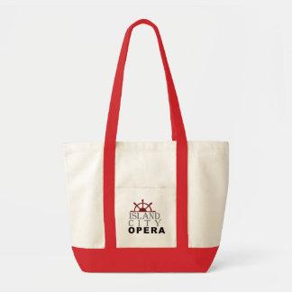 Insel-Stadt-Opern-natürliche rote große Tasche Tragetasche