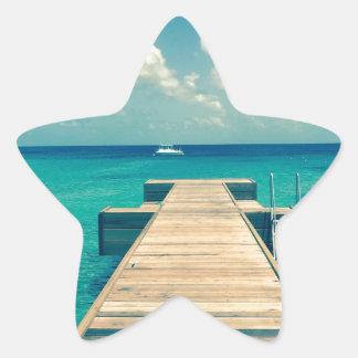 Insel Stern-Aufkleber