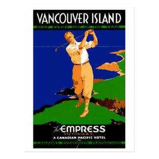Insel-Vintages Plakat USA Vancouver wieder Postkarte