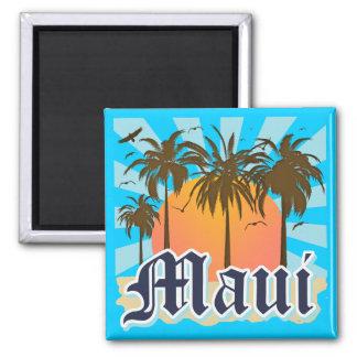 Insel von Andenken Mauis Hawaii Quadratischer Magnet