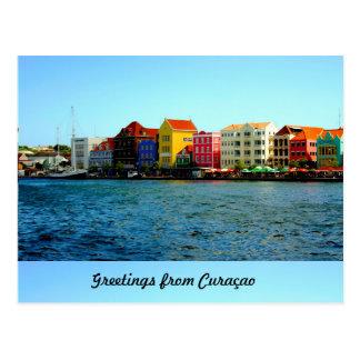 Insel von Curaçao-Entwurf durch Admiro Postkarte
