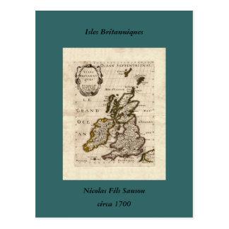 Inseln Britanniques - Karte 1700 Nicolas Fils