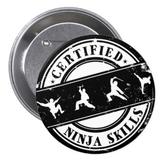 Insigne drôle certifié de qualifications de Ninja Badge Rond 7,6 Cm