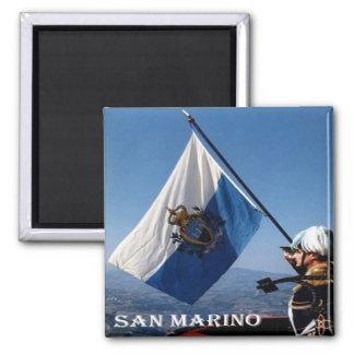 Inspektion - San Marino - Flagge San Marinese Quadratischer Magnet