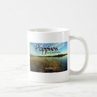 Inspiration -- Aristoteles und Glück Kaffeetasse