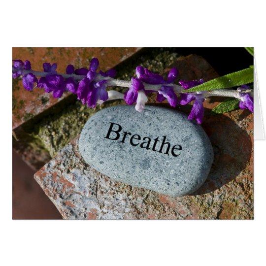 Inspiration: Atmen Sie 3 Mitteilungskarte