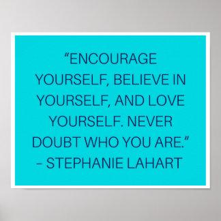 Inspiration Stephanies Lahart zitiert Plakat