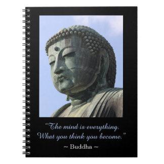 Inspirational Buddha-Foto-Zitat Notizblock