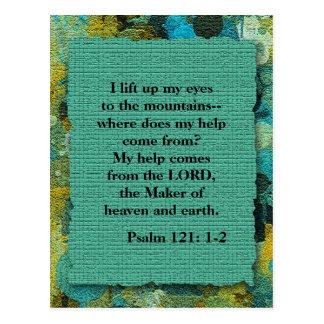 Inspirational christliche Bibel-Vers-Postkarte Postkarte