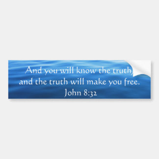 Inspirational christliches Zitat - John-8:32 Autoaufkleber