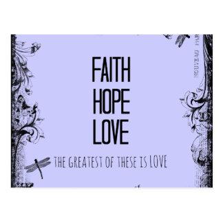 Inspirational Glauben-Hoffnungs-Liebe-Bibel-Vers Postkarte