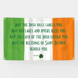 Inspirational irisches Segen-Flaggen-Kleeblatt Banner