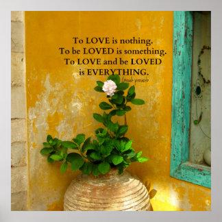 Inspirational Liebezitat Grieche-Sprichwort Poster