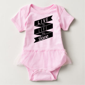 Inspirational motivierend Zitat Tutu-Bodysuit Baby Strampler