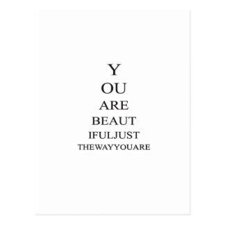 Inspirational Schönheits-Liebe-Zitat Postkarte