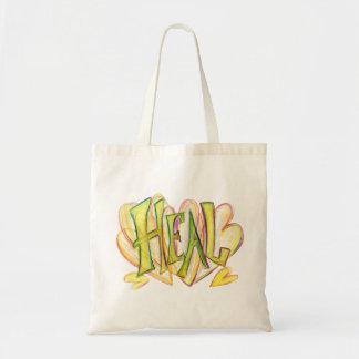 Inspirational Wort heilen Kunst-Taschen-Tasche Tragetasche