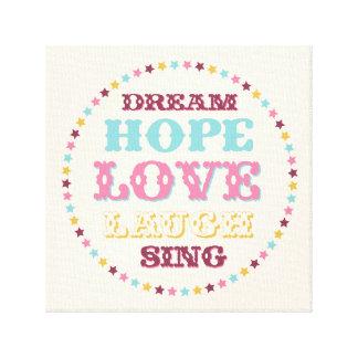 Inspirational Wort-Traumliebes-Hoffnungs-Leinwand Leinwanddruck
