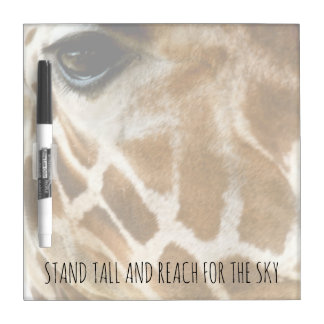 Inspirational Zitate des Giraffen-Natur-Foto-| Memoboard