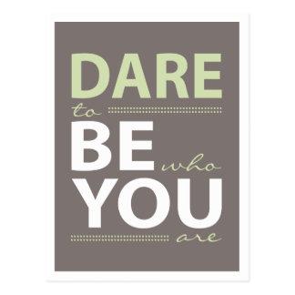 Inspirations-Herausforderung, zum Sie zu sein Postkarte