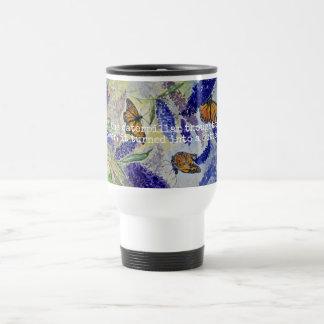 Inspirations-Monarchwatercolor-Kunst-Reise-Tasse Edelstahl Thermotasse
