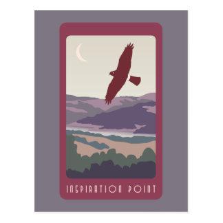 Inspirations-Punktpostkarte Postkarte