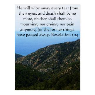 Inspirations-und Stärken-Bibel-Vers-Enthüllung 21 Postkarte