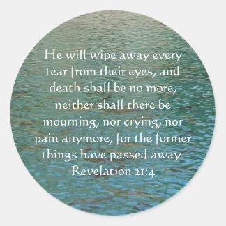 Inspirations-und Stärken-Bibel-Vers-Enthüllung 21 Runder Aufkleber