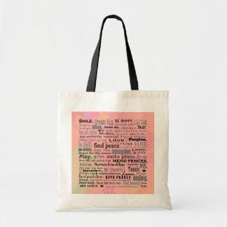 Inspirieren der wiederverwendbaren Tasche der Wört
