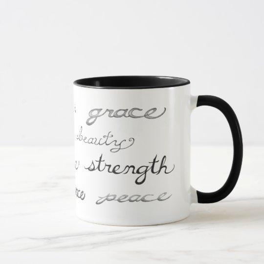 Inspirieren der Wort-Tasse Tasse