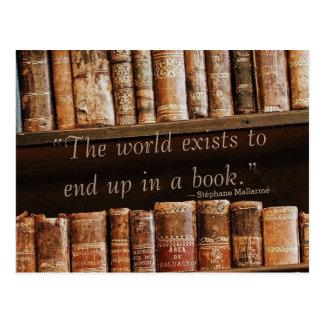 Inspirieren des altes Buch-Zitats Postkarten