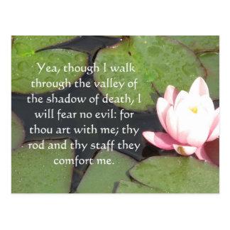 Inspirieren des Bibel Scripture Psalm-23:4 Postkarte