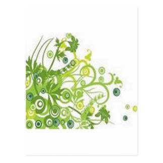 Inspirieren des Blumenentwurfs Postkarte