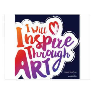 Inspirieren Sie durch Kunst-Postkarte Postkarte