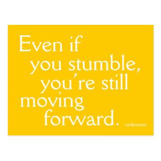 Inspirieren Sie Erfolg - motivierend Postkarte