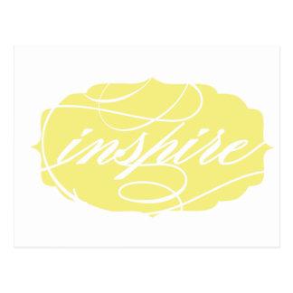 Inspirieren Sie Gelb Postkarte