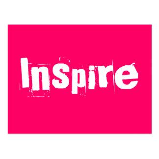 Inspirieren Sie - rosa motivierend Postkarten