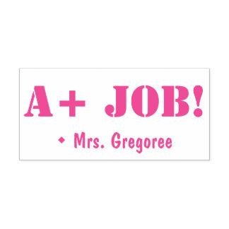 """Inspirieren """"von A+ JOB!"""" Tutor-Gummi-Briefmarke Permastempel"""