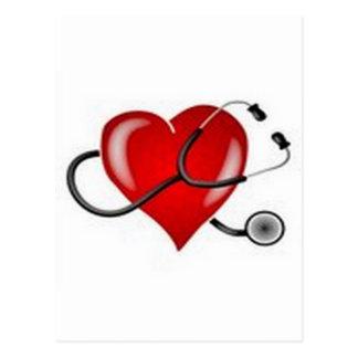 Inspirieren von Entwurf Liebe-Doktors Heart Postkarte