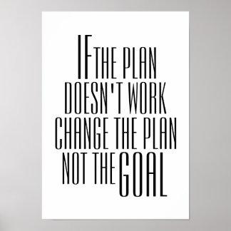"Inspirierend ""Änderung der Plan-"" Zitat-Plakat Poster"