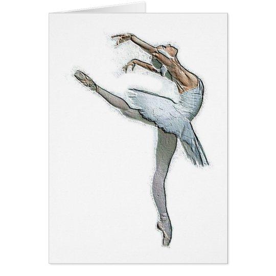 Inspirierend Ballett-Tänzer Grußkarte