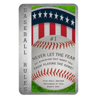 Inspirierend Baseball-Mitteilung Magnet