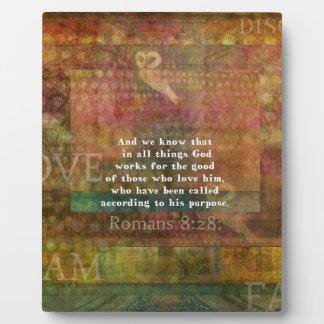 Inspirierend Bibel-Vers Fotoplatte