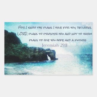 Inspirierend Bibel-Vers-Jeremias-29:11 Rechteckiger Aufkleber