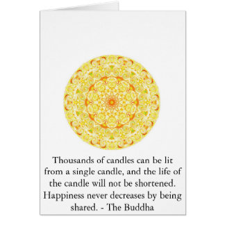 Inspirierend Buddha-Zitat Karte