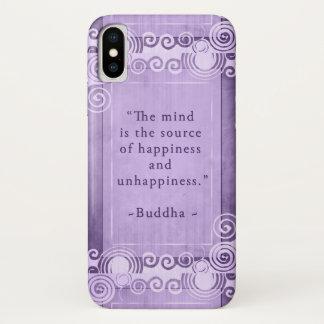 Inspirierend Buddha-Zitat-Typografie iPhone X Hülle