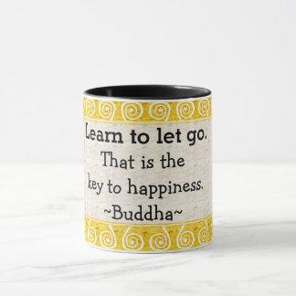 Inspirierend Buddha-Zitat-Typografie Tasse