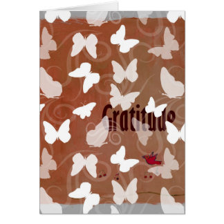 Inspirierend Dankbarkeits-Schmetterlinge Grußkarte