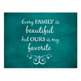 Inspirierend Familien-Zitat Postkarte