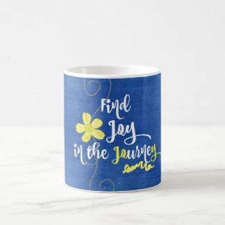 Inspirierend Freude im Reise-Zitat Kaffeetasse