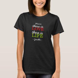 Inspirierend Gandhi Zitat-Schwarzes T-Shirt